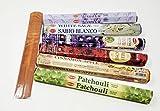 Hem Incense Sticks Combo with JR Incense Holder-- Patchouli, Attracts Money, Red Rose, Lavender, Sandal Cinnamon, Vanilla (H26)