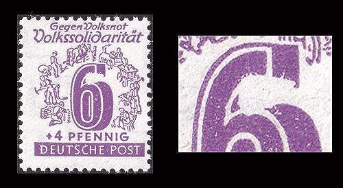 Goldhahn SBZ Nr. 141 IV postfrisch Plattenfehler Briefmarken für Sammler