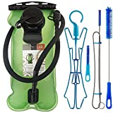 WACOOL 3L 3Liter 100oz BPA Free EVA Hydration Pack Bladder, Leak-Proof Water Reservoir (Green(Double Opening) with Clean Kit)
