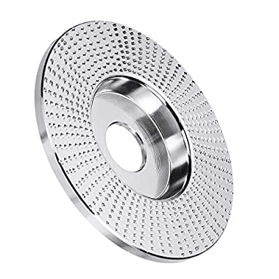 4 Inch Extreme Shaping Disc 5/8 Inch Bore Wood Carving Disc Grinding Wheel Sanding Abrasive Grinder Disc for 100 115 Angle Grinder - Flat Type
