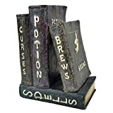 Clever Home Halloween Four Spell Books Decorative Poly Resin Figure - Brew, Curses, Potions and Spells - 8 H x 6 W in