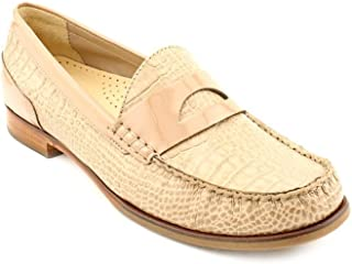 Cole Haan Laurel Womens Nude Leather Penny Loafers Shoes Size 8