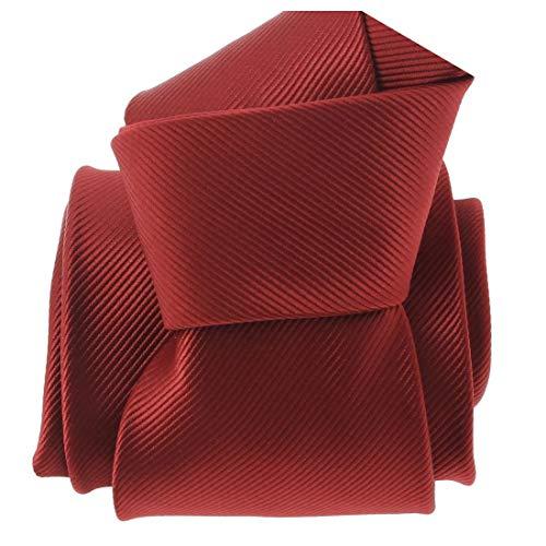 Clj Charles Le Jeune. Cravate. Monochrome, Microfibre. Rouge, Uni.