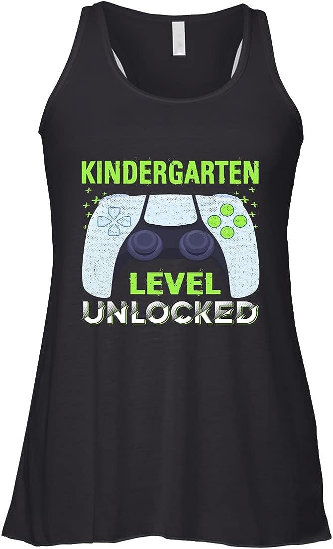 Kindergarten Level Unlocked Apparel First Day School Kid Boy