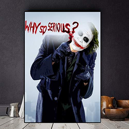 IHlXH Das Joker Filmplakat Leinwanddrucke Joaquin Phoenix Cuadros Ölgemälde auf Poster Wandkunst Bild für Wohnzimmer Home Decor 40X60cm No Frame