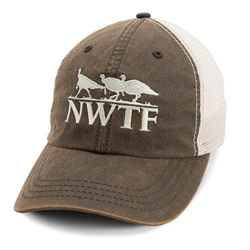 National Wild Turkey Federation Men's NWTF Mesh Hat Brown