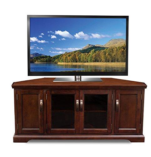 """Leick Chocolate Cherry Corner TV Stand, 60"""""""