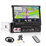 1 Din Touchscreen Car Stereo with GPS Navigation, 7...