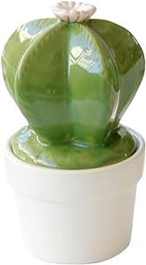 B Blesiya Estatuas de Ceramica de Cactus Adorno de Jardín a Aire Libre Regalo para Navidad Festival - B