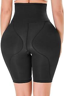 سراويل داخلية للجسم مشد للجسم لرفع الأرداف مبطن معزز لمنطقة الورك بدون خياطة ملابس داخلية للنساء (المقاس: متوسط)