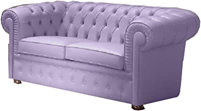 Trama Toscana canapé Chesterfield 2 Places en Cuir véritable