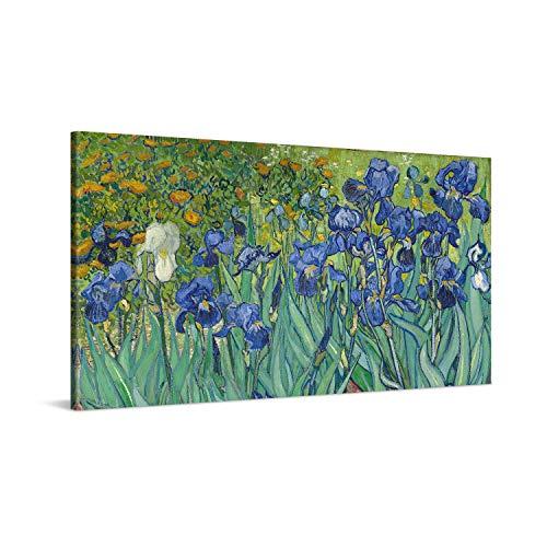 PICANOVA – Vincent Van Gogh Irises 100x50cm – Cuadro sobre Lienzo – Impresion En Lienzo Montado sobre Marco De Madera (2cm) – Disponible En Varios Tamanos