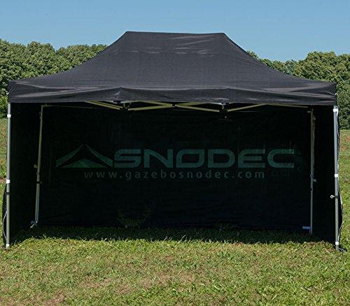SNODEC Gazebo RAPIDO 3x4.5 Nero in Acciaio 30mm+ Laterali. Impermeabile 100% GARANTITO