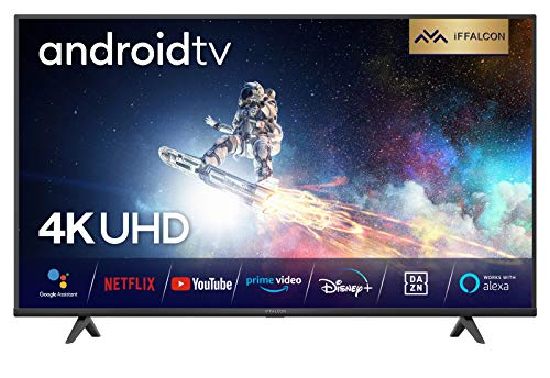 iFFALCON 55K610 LED Fernseher 55 Zoll (139 cm) Smart TV (4K Ultra HD, MEMC, Dolby Vision, Android TV, inklusive Sprachfernbedienung, Prime Video, Google Assistant und Alexa) [Energieklasse A++]