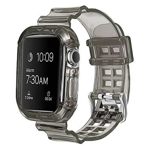 CHENPENG Compatible con Apple Watch Series SE / 6/5/4/3/2/1 Correas de Silicona de Repuesto Correa de muñeca Suave de TPU con Estuche Protector Resistente,28,42mm