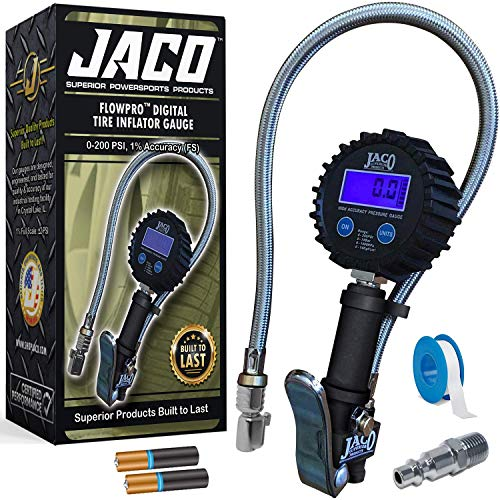 JACO FlowPro Digital Tire Inflator with Pressure Gauge - 200 PSI