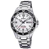 Festina F20478/1 Automatik Automatic Uhr Herrenuhr 10 bar Analog Datum Silber