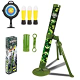 ABCaptain Mortar Launcher Military Blaster Toys Playset Soft Foam Rockets Missile Shooting Game for Kids Boys Girls & Adults