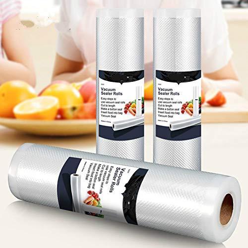 3 Rolls Best Food Vacuum Sealer Bags Kitchen Food Storage Bags For Vacuum Sealer Packaging Machine
