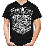 Für Immer Frankfurt Männer und Herren T-Shirt | Sport Fussball Stadt Fan (3XL, Schwarz Druck: Weiß)