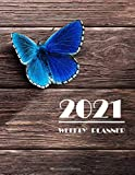 2021 Weekly planner: Butterfly 2021 weekly schedule planner 2 years calendar with note line dot (Pretty Butterfly Planners)