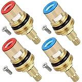 valvola di ricambio per rubinetto Fiyuer 2 Pcs disco rubinetto 1/2' vitoni in ceramica per rubinetti ideal standard Bagno Cucina