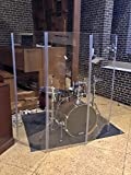 Acrylic 5 Section Drum Shield Acrylic Drum Panels with Flexible Hinges Total Height 5 Feet DS4...