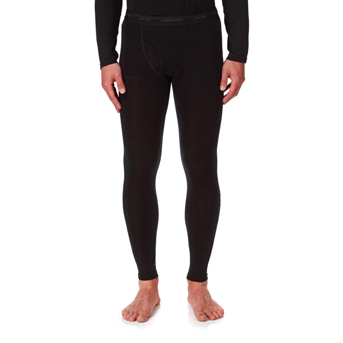 Icebreaker Herren Leggings Everyday w Fly, Black, S, 101266001