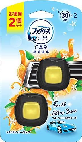 ファブリーズ 車用 クリップ型 消臭芳香剤 イージークリップ フルーツシトラスブリーズ 2mLx2個