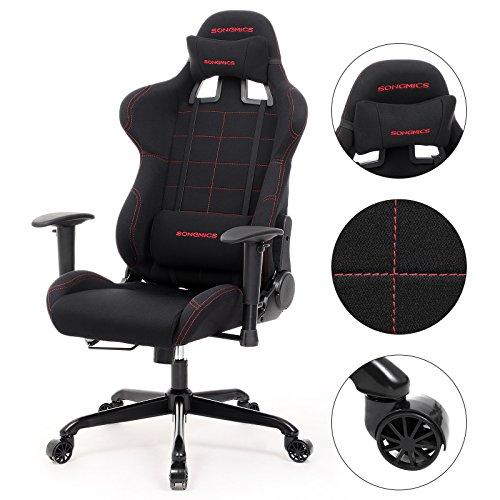 SONGMICS Bürostuhl Gaming Stuhl  hoher Bild 6*
