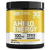 Optimum Nutrition Amino Energy Pre Workout en Polvo, Bebida Energética con Beta Alanina, Vitamina C, Cafeína, Aminoacidos Incluyendo BCAA, Piña, 30 Porciones, 270g, Embalaje Puede Variar