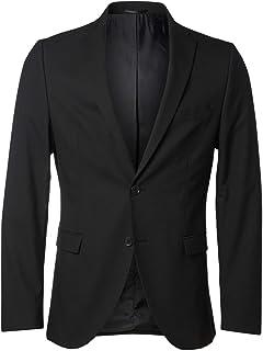 SELECTED HOMME Men's Shdnewone-mylologan1 Black Blazer Noos Suit Jacket