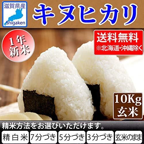 令和1年産 滋賀県産 キヌヒカリ 10kg 精米方法選べます】 (3分搗き)