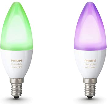 Philips Lighting  White And Color Ambiance Lampadine LED, Attacco E14, 6.5 W, Bianco, 2 Pezzi