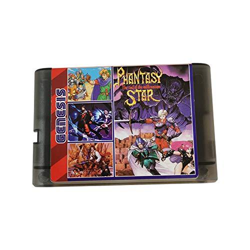 200in1 Game Cartridge 16 bit Game Card for Sega Mega Drive Genesis Console (Black transparent)