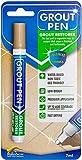Grout Pen Beige Tile Paint Marker: Waterproof Tile Grout Colorant and Sealer Pen - Beige, Narrow 5mm Tip (7mL)