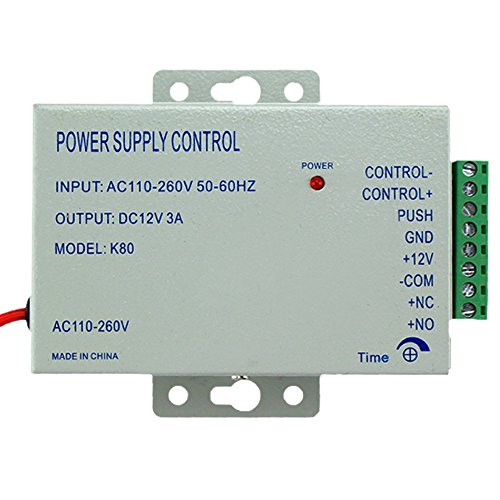 LIBO Access Control Netzteil K80 Netzschalter DC 12V 5A AC 110~260V für alle Arten Access Control System Türschloss mit Zeitverzögerung (K803A)
