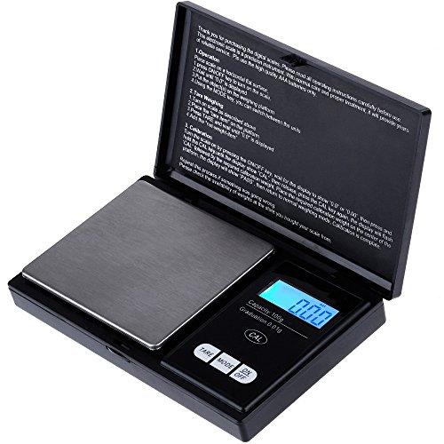 Zacro ELITE - Báscula de cocina digital de bolsillo, 200 g x 0,01 g, mini báscula multiusos para joyas, pantalla LCD, balanza alimentaria