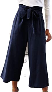 Howely Women's Relaxed Highwaist Wide Leg Oversized Palazzo Trousers