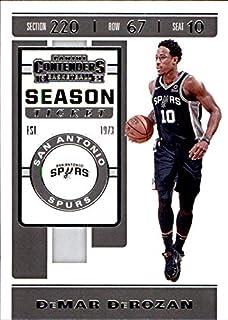 2019-20 Panini Contenders #25 DeMar DeRozan SAN ANTONIO SPURS USC TROJANS NBA Basketball Trading Card