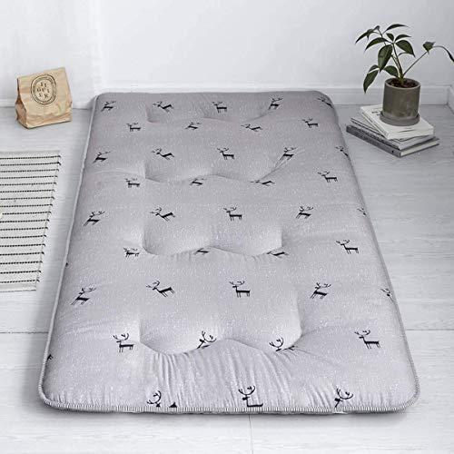 Lefran Colchón Tipo futón japonés para Suelo de Cielo Estrellado, colchón de Camping Tatami Colchón de Camping portátil para niños Almohada Plegable para Dormir Cuna Enrollable, G, 150 200 cm
