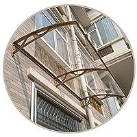 TTRY&ZHANG ドアウィウ窓ガラスの透明な日よ過ぎ、スケーラブルポーチ紫外線保護カバー、カスタムサイズ セルフクリーニングで安全 (Color : CLEAR, Size : 80X200CM)