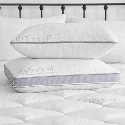 Sleep Innovations Comfort Gel Memory Foam Customizable Pillow, Standard, White