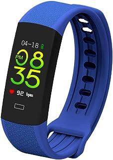LTJX Pulsera Actividad Hombre Mujer, Pulsera Actividad Inteligente Reloj Pulsómetro Impermeable IP68 Podómetro Pulsera Deportiva Reloj Smartwatch Android iOS,Azul