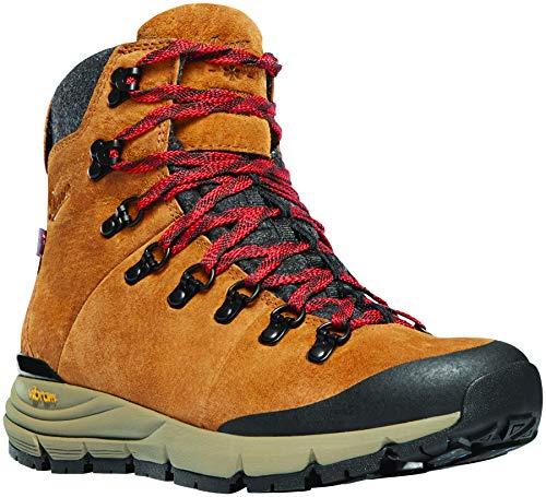 "Danner Women's 67332 Arctic 600 Side-Zip 5"" Waterproof 200G Hiking Boot, Brown/Red - 10.5 M"