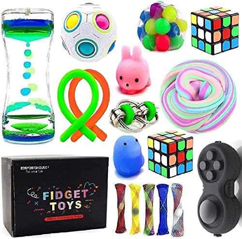 Sensory Fidget Toys Bundle-DNA Stress Relief Balls with Fidget Hand Toys for Anxiety Kids &...