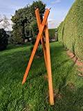 Darlux Soporte de trípode macizo para casas de pájaros XXL - L, de madera, color marrón