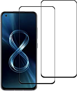 VIESUP for Asus Zenfone 8 Silk Screen Protector, [2PACK] Full Coverage Anti-stratch Screen Tempered Glass Protective Film ...