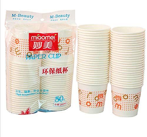 Vasos de papel Vajilla desechable Vasos de café Vasos de papel para llevar resistentes al calor Para café de fiesta, té, chocolate, bebidas frías calientes 200 ml, 50 piezas, 5 paquetes