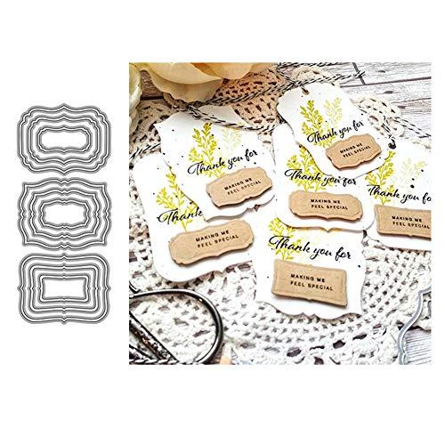Mothcattl Metall-Stanzformen für Etiketten, Kartenherstellung, Prägeschablone, DIY, Scrapbooking, Album, Papierkarten, Basteldekoration